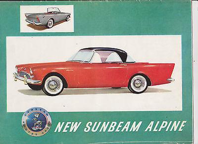 Sunbeam Alpine Series 1 foldout brochure - 1959