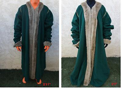 Medieval Renaissance King Queen fur ROBE Costume LARP vtg Warner Bros Movie - Kings Robe Fur