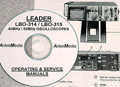 Leader Lbo-314 Lbo-315 Operating Service Manuals