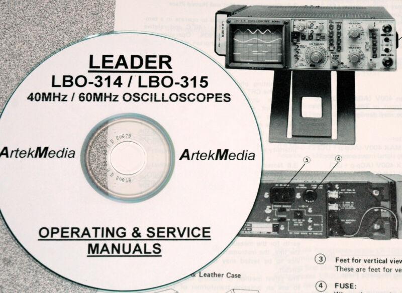 Leader LBO-314 & LBO-315 Operating & Service Manuals