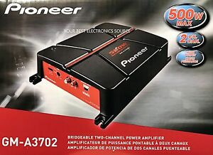 NEW Pioneer GM-A3702 2-Channel Bridgeable Class AB 2-Ohm Stable Car Amplifier