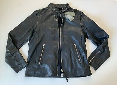 ALLSAINTS All Saints Men's Cora Leather Jacket in Black Size XL - NEW