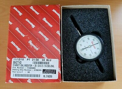 New In Box Starrett Dial Indicator 25-241j .001 .250 Range