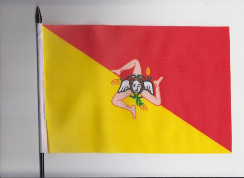 Italy Sicily Medium Hand Waving Flag