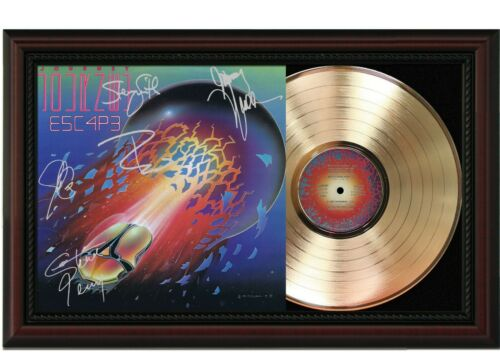 """Journey Framed Cherry wood Reproduction Signature LP Display. """"M4"""""""