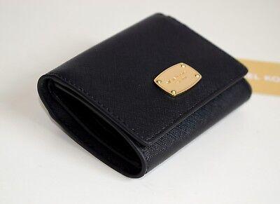 MICHAEL KORS Damen Geldbörse Portemonnaie JET SET TRAVEL TRIFOLD schwarz