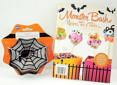 Halloween Monster Bash Recipe Book w/ Cookie Cutter Set  - Halloween Biscuit Recipe