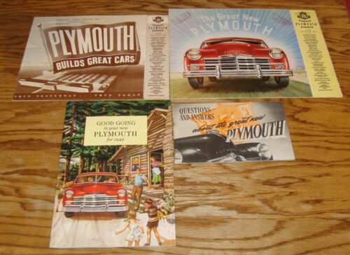 1949 Plymouth Owners Manual Sales Brochure Lot of 4 49 Special De Luxe