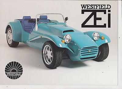 Westfield ZEi Brochure, Price List & Letter - c.1993 - mint