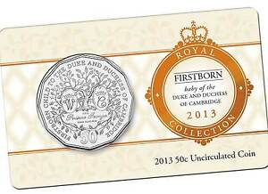 2013-Royal-Baby-George-of-the-Duke-and-Duchess-of-Cambridge-50c-Coin-New