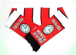 Manchester United Munich Remembrance Scarf Man Utd Football Scarves Memorabilia