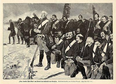 Arthur Kampf ( Der Choral von Leuthen ) Militärische Graphik von 1898
