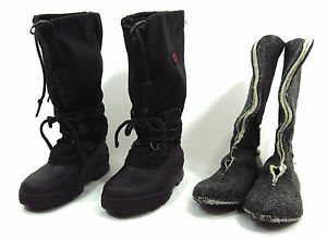 womens sorel boots 6 black rubber snow winter