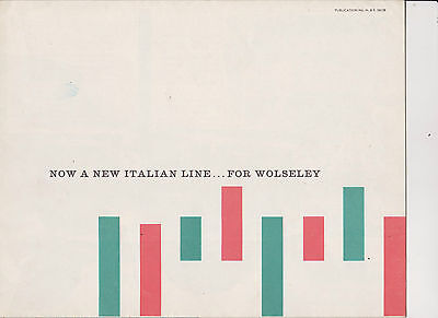 WOLSELEY 15/60 brochure - dated 1/59 - publ H&E 58138