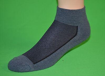 3pr Men's Heather Gray Portrayal Merino Wool Quarter Running Socks…Sz 10-13 Lg