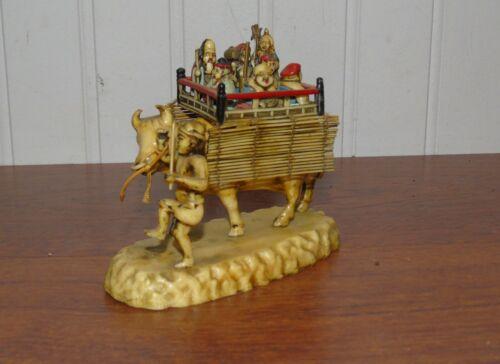 JAPAN SHICHIFUKUJIN ON COW 7 GODS OF FORTUNE MAN SKULL TATTOO SIMULATED CELLULOD