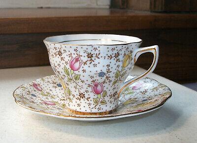 Rosina Bone China England Tea Cup and Saucer June 4974A  Perfect Condition Bone China England Tea Cup