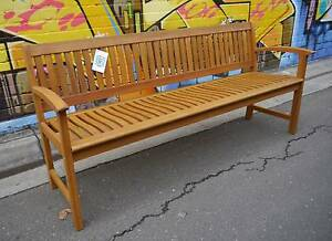 New 1800 Lucca Outdoor Timber Bench Seat Garden Furniture Wooden Melbourne CBD Melbourne City Preview