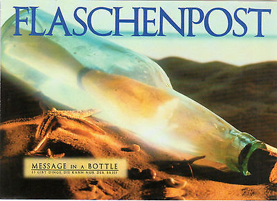 HQ - Klappkarte  neu  -  Flaschenpost  -  MESSAGE IN A BOTTLE. ()