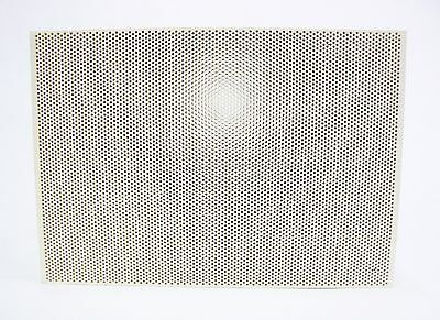 "Ceramic Honeycomb Block Soldering Board Perforated 5-1/2"" x 7-3/4"" x 1/2"" Large"