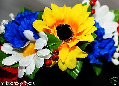 Ukrainischer Kranz Haarschmuck Haarkranz Haarband Haarreifen Blume Fasching