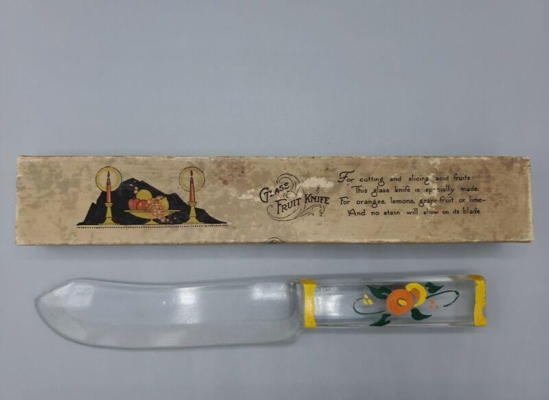 Vintage 1920s Rust Glass Fruit Knife for Fruits - Depression