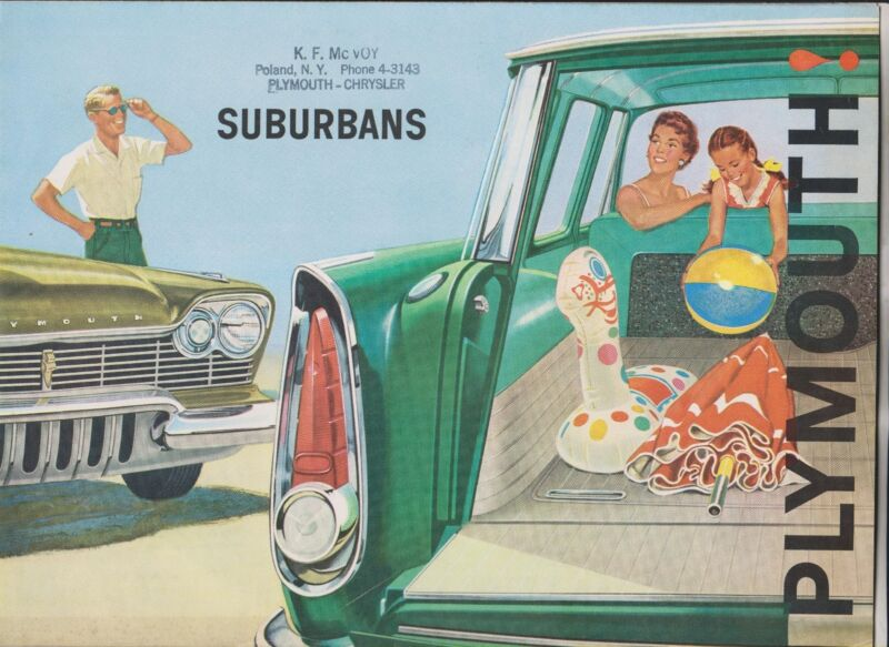 1960 SALES BROCHURE - PLYMOUTH SUBURBANS