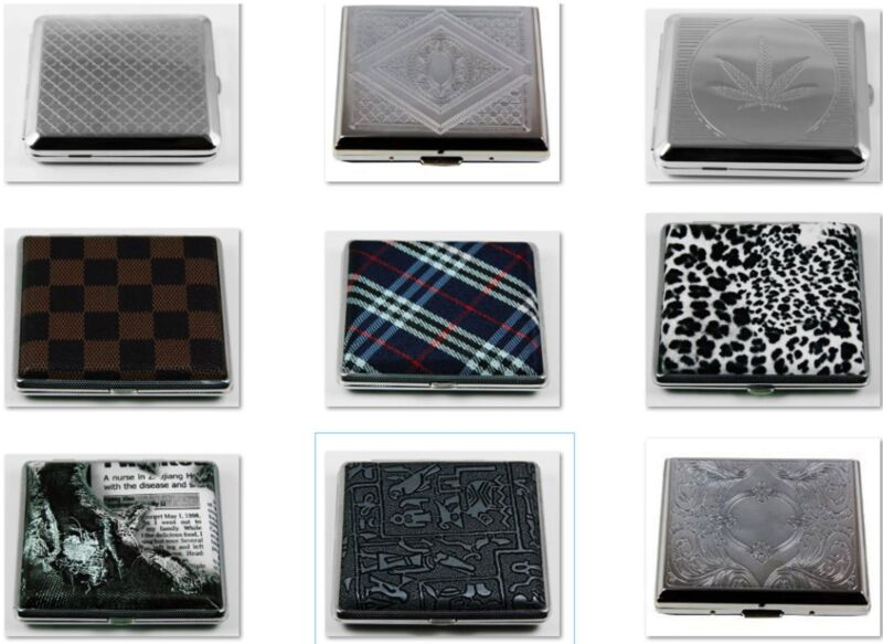 Top Quality Stylish RFID Blocking Double Sided King Cigarette Case Wallet Holder