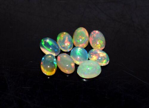Black Friday Sale 4x6MM 9Pcs Natural Ethiopian Opal Loose Gemstone Cabochon 27