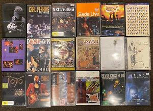 Music DVDs - Rock, Jazz, Blues - Plenty of choice!