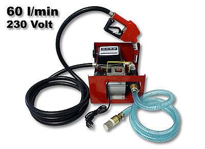 Bio Dieselpumpe Heizölpumpe selbstansaugend 230V/550W 60l/min Gestell Pistole
