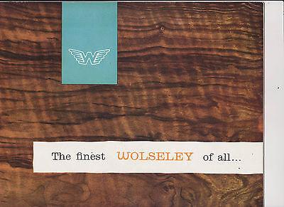 WOLSELEY 6/99 brochure - 1959 - publ H999 - mint condition