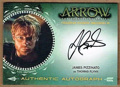 "2015 Cryptozoic Arrow Season 2 ""Thomas Flynn"" JAMES PIZZINATO Autograph Card #JP"