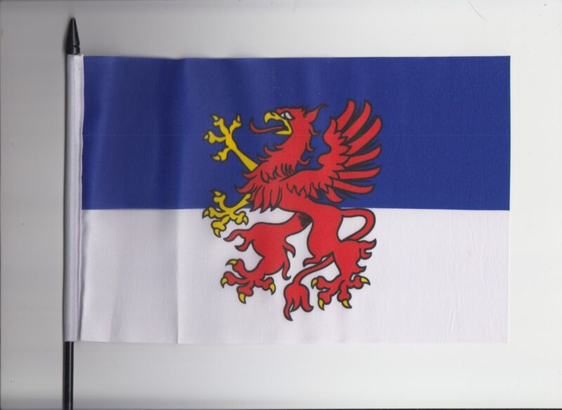 Pomerania Germany Medium Hand Waving Flag