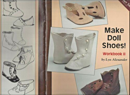 ANTIQUE DOLL LEATHER+TRIM CHILD SHOE/STRAP SLIPPER/BOOT WORKBOOK II PATTERN BOOK