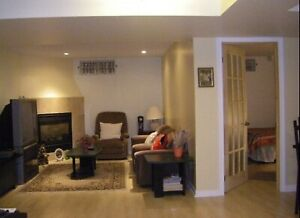 Avail in April Beautiful Furnished Bsement Rm for Female tenant