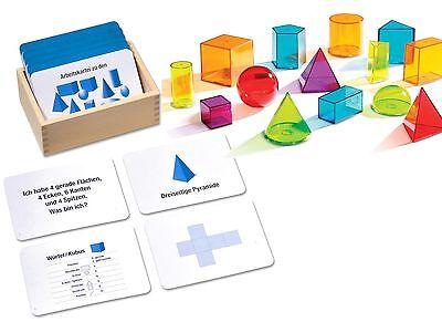 Geometrische Körper verstehen lernen Montessori Material  mit 100 Arbeitskarten
