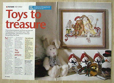 Christmas Toys Cross Stitch Chart By Sue Cook