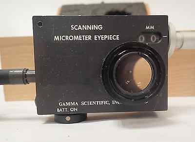 Egg Gamma Scientific 700-10-65a Scanning Micrometer Eyepiece Wcase