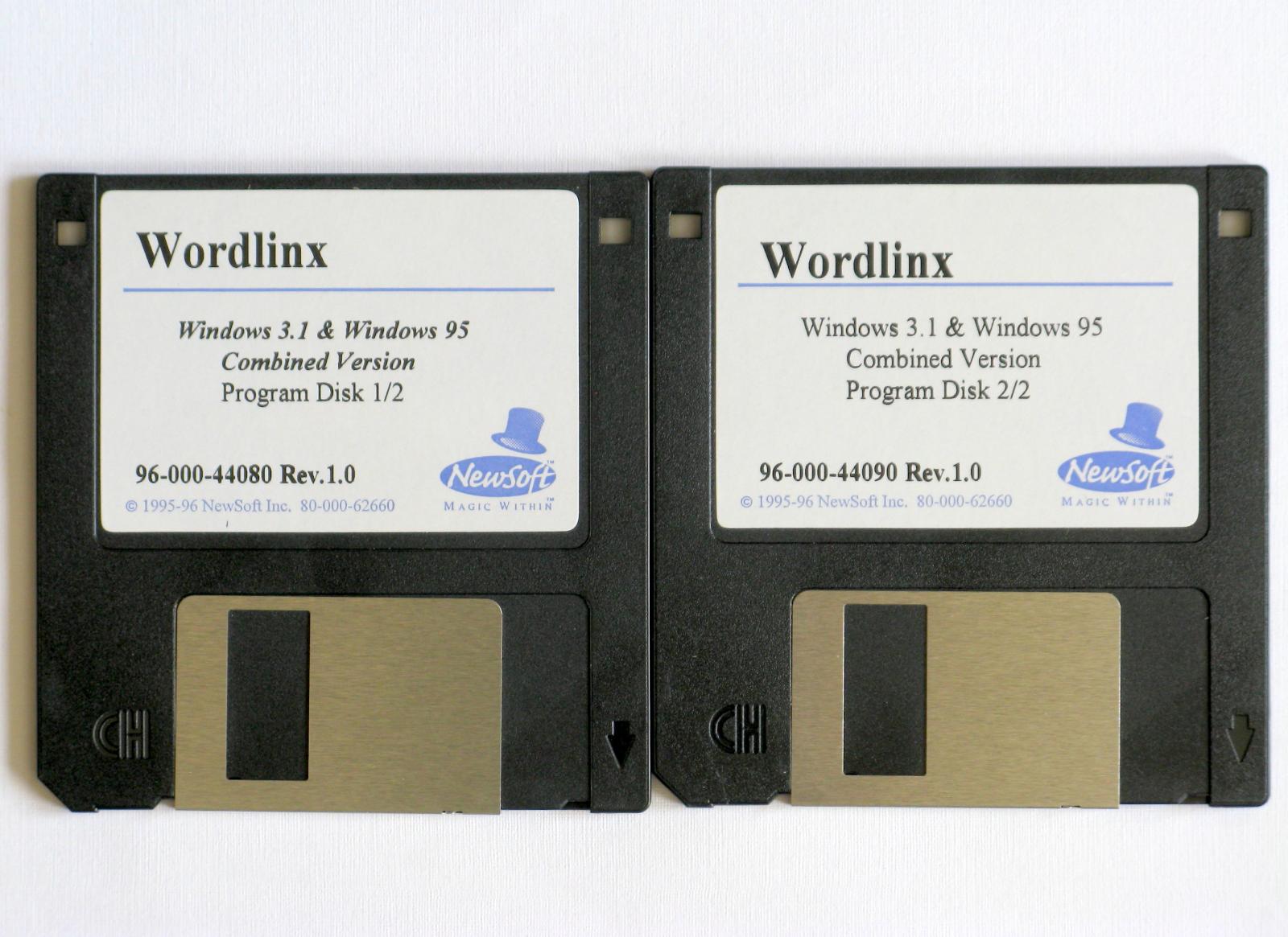 Vintage Wordlinx OCR Software for Windows 3.1 and Windows 95, 96-000-44080