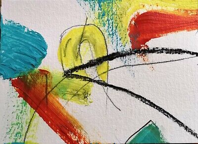 NHS CHARITY AUCTION 100% TO CHARITY THE GATE ABSTRACT 108 NIGEL WATERS SIGNED