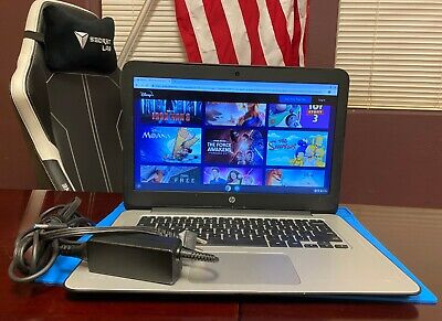HP Chromebook 14 Laptop  Intel Celeron 1.4GHz, 4GB 16GB Chromebook + Charger