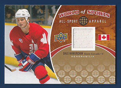 DALE HAWERCHUK 2010 UD WORLD OF SPORTS ALL-SPORT APPAREL ASA37 TEAM CANADA 22028