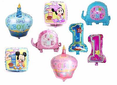 Luftballon Folienballon 1. Geburtstag Kind Eins Ein Jahr Junge Mädchen Zahl groß