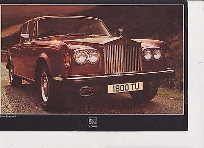 ROLLS ROYCE Silver Shadow brochure - 1978 - mint