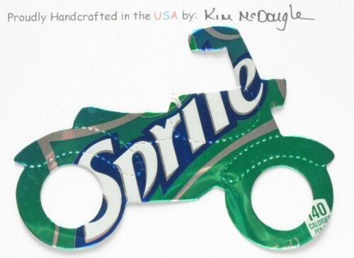 Motorcycled Christmas Ornament Handmade With A Recycled Aluminum Soda Can 9C