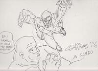 Giancarlo Olivares Disegno Sketch Dedica Ad Personam 1994 -  - ebay.it
