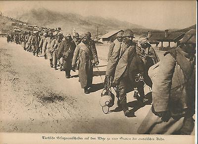 Türkei Turkey Ottoman 1 Pressefoto Armee Soldaten Sultan Pascha  Militär WW1 WAR