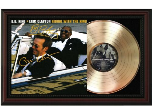 """B.B. King  Framed Cherry Wood Reproduction Signature LP Record Display #2 """"M4"""""""
