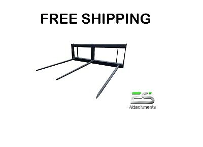 Es 49 Square Hay Spear Skid Steer Quick Attach Tractor Bale Spear-free Shipping